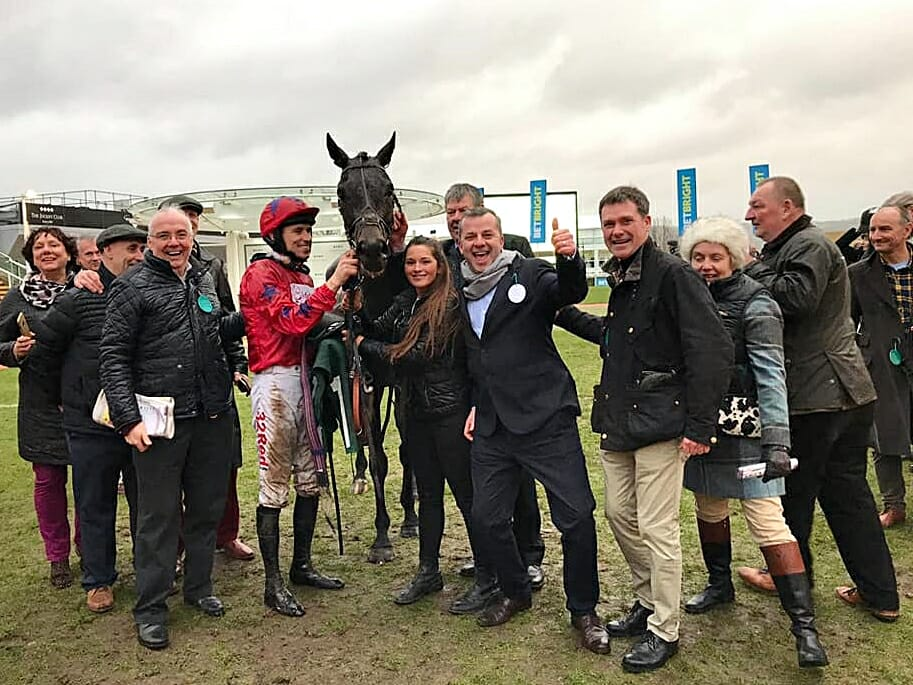 Benny's Bridges Owners celebrating a win at Cheltenham Races | Biddestone Racing